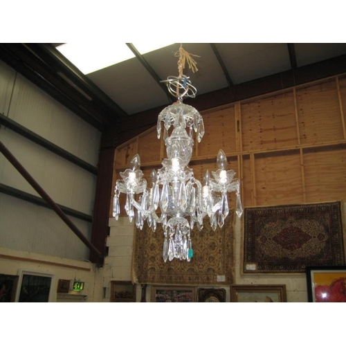 577 - Waterford Glass 5 Branch Ceiling Light and a...