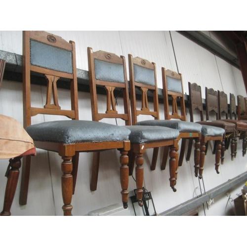 58 - Set of 4 Edwardian Oak Dining Chairs...