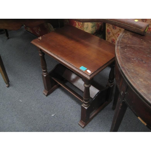 584 - Mahogany Occasional Table with a Magazine Rack...