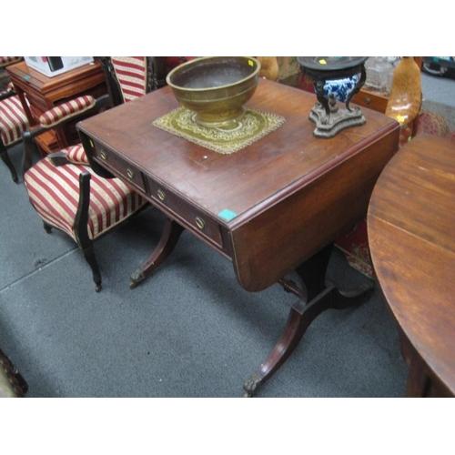 589 - Regency Style Mahogany Sofa Table...