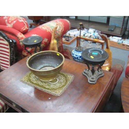 590 - Pair of Victorian Metal and Slate Tazza's together...