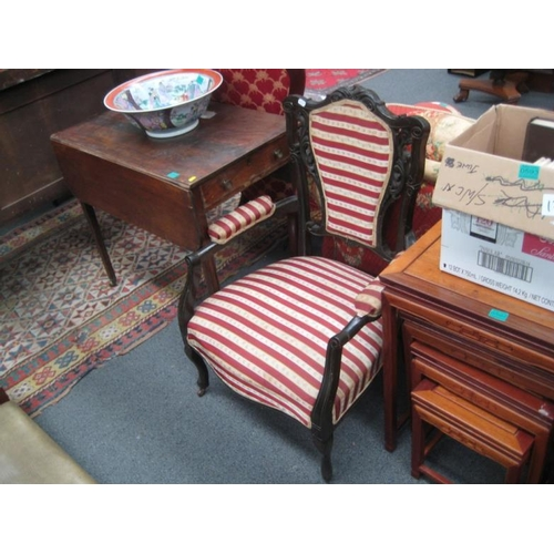 591 - Pair of Late Victorian Mahogany Armchairs...