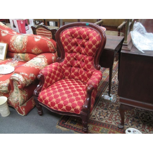 596 - Victorian style Gents Armchair...