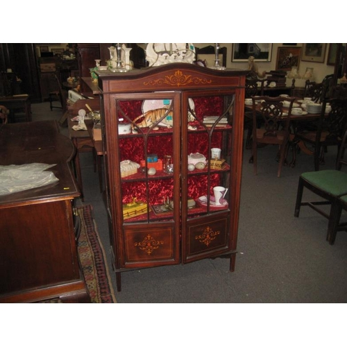 602 - Edwardian Inlaid Display Cabinet...