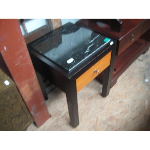 63 - Marble Top Lamp Table with one drawer...