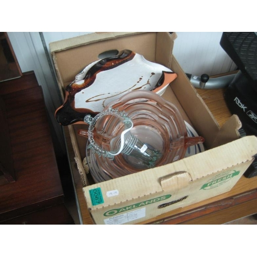 67 - Box lot of Pottery and Glassware...
