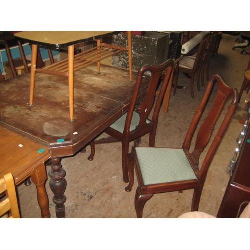 87 - Tudor style Oak Dining Table...