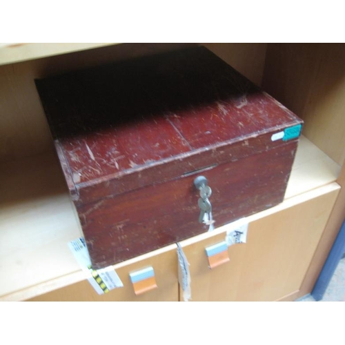 98 - Mahogany Deed Box...