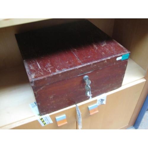 98 - Mahogany Deed Box...