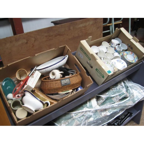 99 - 2 Boxes of various Pottery and Porcelain...
