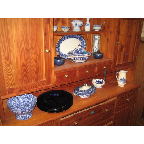 12 - Collection of Victorian Blue & White Porcelain & others...