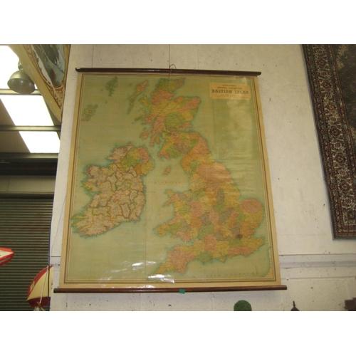14 - Bartholomews General Map of the British Isles, Classroom Size...
