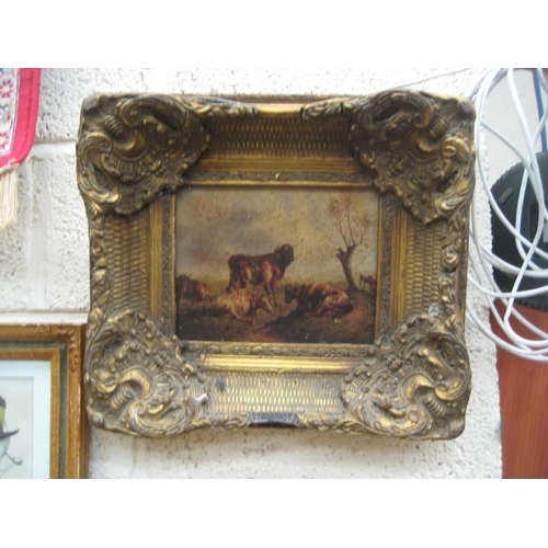 20 - Two Gilt Framed Pictures (one as found)...