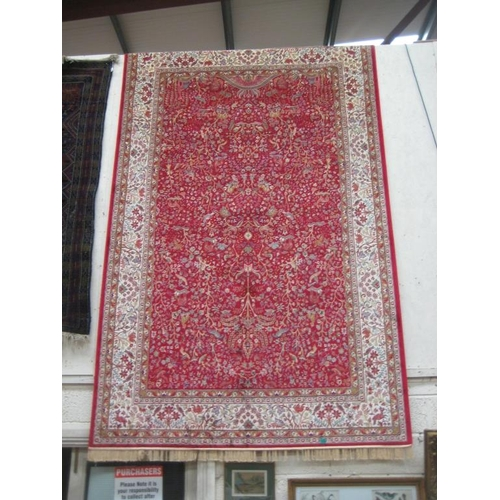 24 - Red Ground Persian Kashmir Carpet from a Power Loom - (3m x 2m)...