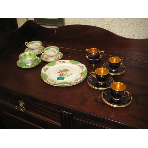 26 - Arklow Pottery part Coffee Set and some Floral Bone China Tea Wares...