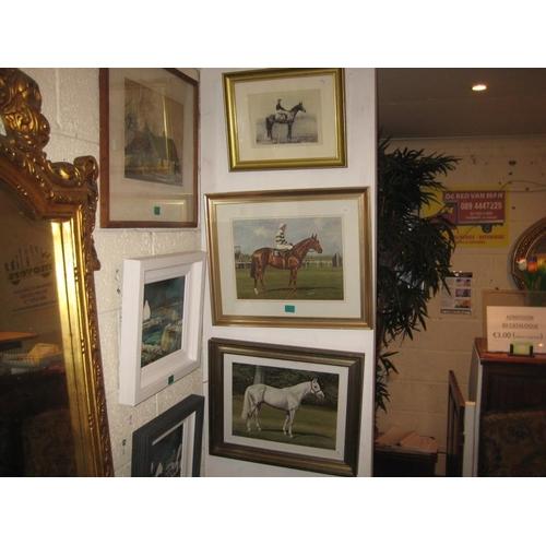 33 - Three Framed Equestrian Prints...