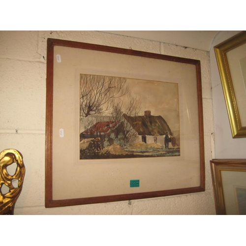 34 - Watercolour Painting - Fergus O'Ryan A November Evening, Rhebogue, Limerick 27cm  38cm...