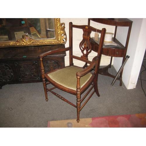39 - Edwardian Inlaid Mahogany Ladies Chair...