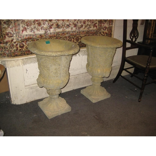 43 - Garden Statuary - Pair of decorative Urns...