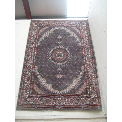 8 - Indian Machine Woven Floor Rug with Central Medallion Design (8ft x 5ft)...