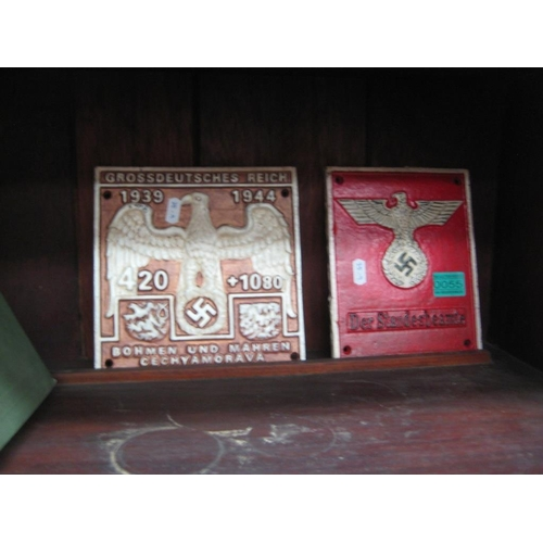 55 - Two Cast Iron Wall Plaques of World War 2 interest...