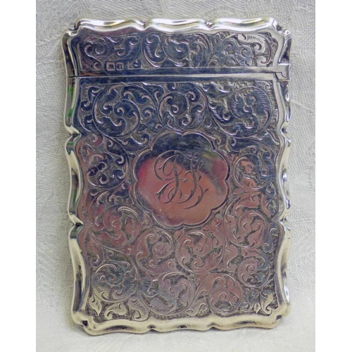 6 - SILVER CARD CASE BIRMINGHAM 1881...