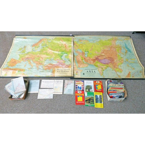 1027 - GOOD SELECTION OF VARIOUS MAPS...