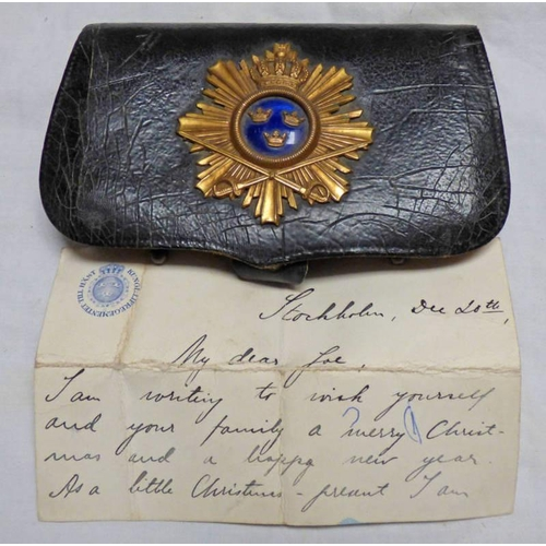 1054 - CARTOUCHE BOX OF THE UNIFORM OF THE KINGS LIFE DRAGOONS WHICH WAS RAISED IN 1565 AND DISBANDED IN 19...