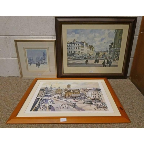 1003 - PRINT DUNDEE IN THE 1950'S SIGNED DOUGLAS PHILLIPS NO 21 OF 850 23 X 22CM, FRAMED PRINT HIGH STREET ...