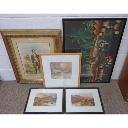 1014 - GILT FRAMED PORTRAIT OF ROBERT BURNS, FRAMED PRINT ON CLASSIC MUSEUM PAPER HAAR AT THE ROUND HOUSE B...