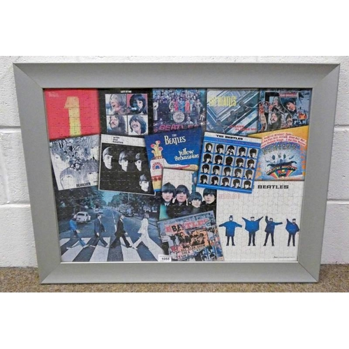 1055 - FRAMED PICTURE A BEATLES PRODUCT 2005 APPLE CORPS 49 X 69 CM