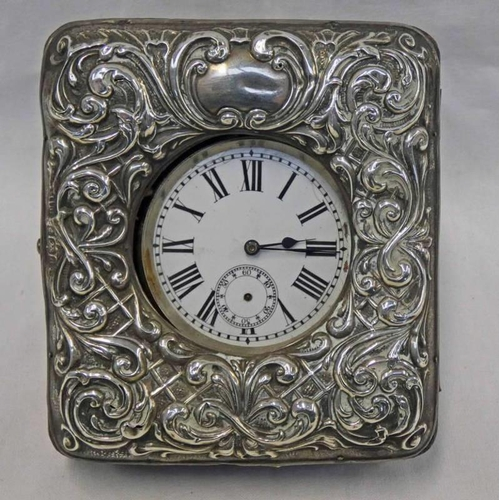 50 - OPEN FACE POCKETWATCH NATIONALE & A SILVER MOUNTED WATCH HOLDER, BIRMINGHAM 1904