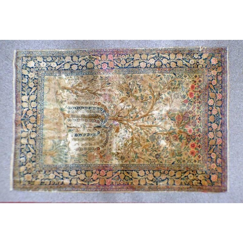 1013 - YELLOW GROUND MIDDLE EASTERN CARPET DECORATED WITH TREE OF LIFE, 196 X 132 CM