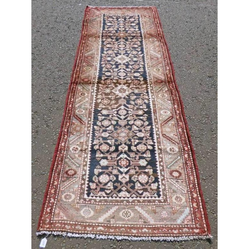 1035 - DEEP GROUND THICK PILE IRANIAN RUNNER WITH UNIQUE ALL OVER DESIGN 286 X 102CM