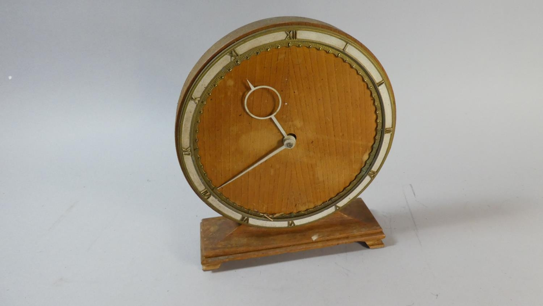 A German Kienzle Circular Mantle Clock, 13 5cm High