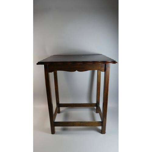 28 - An Edwardian Oak Rectangular Topped Occasional Table, 56cm Wide...