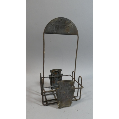 42 - A Vintage Metal Advertising Sauce Bottle Stand,
