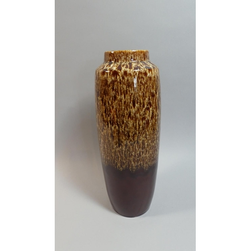 27 - A German Glazed Cylindrical Vase, 37cm High...