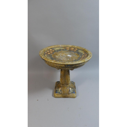 32 - A Cranston Art Nouveau Table Centre with Tube Lined Decoration and Stylised Fruit, Circular Top, 27c...