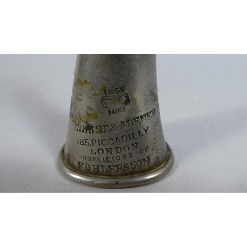 14 - A 19th Century Signal Horn, Inscribed The Kohler, 1850 by Swayne and Adeney, 15cm High...