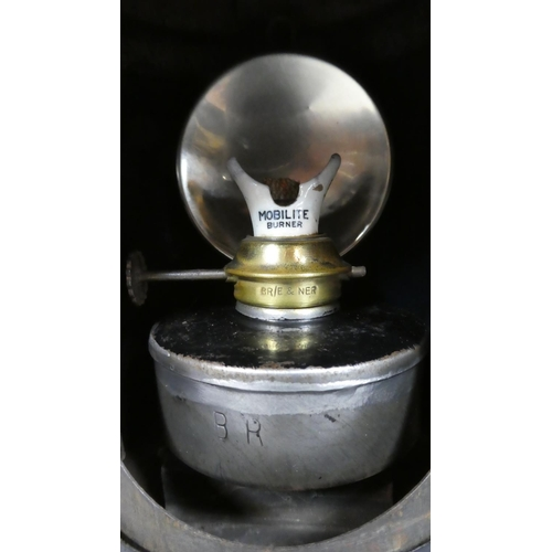 20 - A Railway Signal Lamp with Brass Plaque Inscribed London & North Eastern Railway, 33cm High...