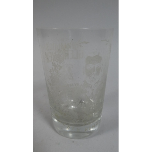 23 - An Advertising Glass for Haig's Whisky, Glass Etched Try John Haig Glenleven, by Appointment, the Ol...