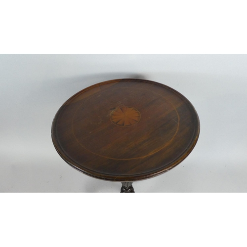 31 - A Mahogany Wine Table Set on Baluster Turned Pedestal to Cabriole Tripod Base, 53cm High...