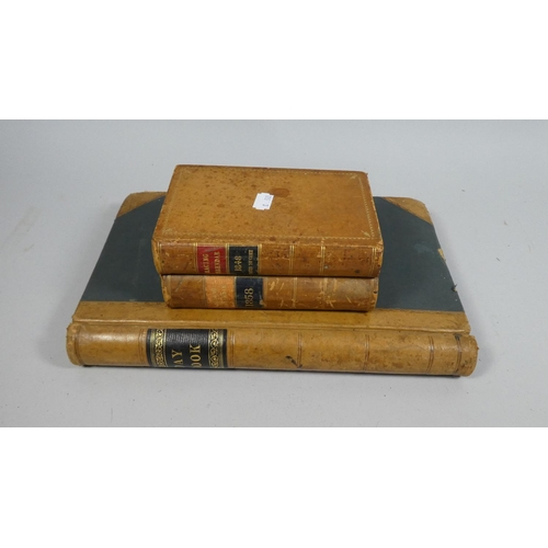 34 - A Leather Bound Day Book Together with a Novelty Box in the Form of Two Racing Calendar Books for 18...