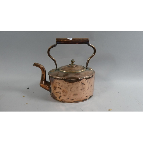 45 - A Late 19th Century Copper Kettle...