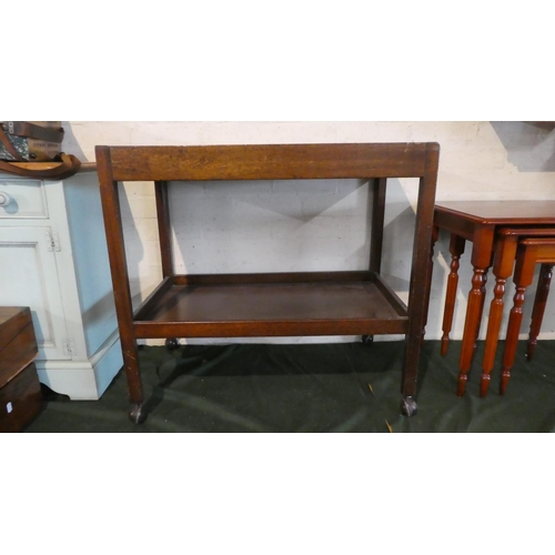 49 - A Mid 20th Century Two Tier Trolley, 76cm Long...