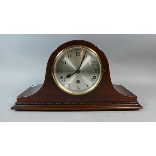 27 - An Edwardian Mahogany Cased Westminster Chime Mantle Clock, 43cm Long...