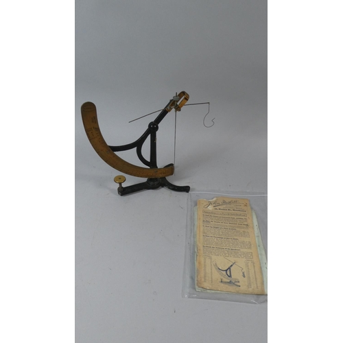 34 - A Set of Brass Mounted Yarn and Cloth Scales with Instruction Leaflet by John Nesbitt Ltd, Mancheste...