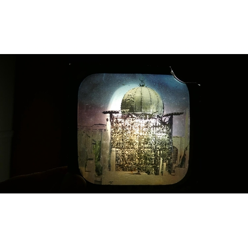 45 - A Collection of Mainly Coloured Magic Lantern Slides to Include Famous Pictures, the Conquest of the...