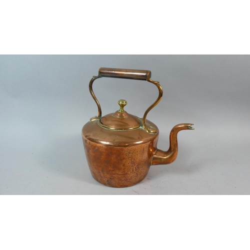 60 - A Late 19th Century Copper Kettle, 26cm High...